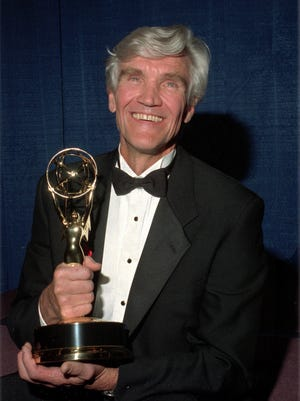 David Canary with his fourth Daytime Emmy award for 'All My Children,' in May 1993.