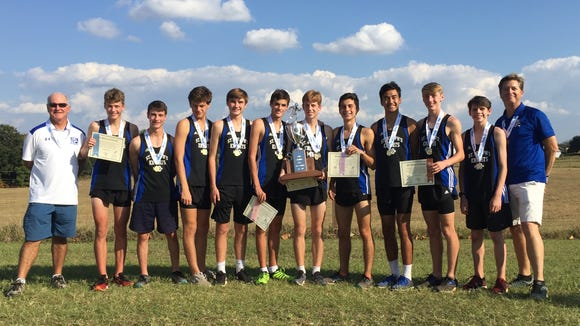St. Joseph's boys cross country team won its third straight state title and fifth in six years Saturday at Sandhills Research Center in Columbia.