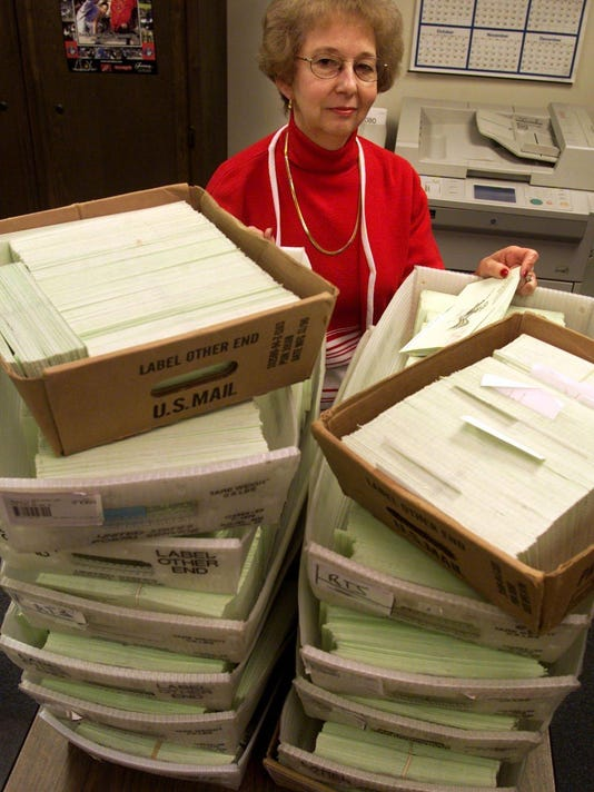ANN BEARD, ELECTION REGISTRAR, VOTER CARDS