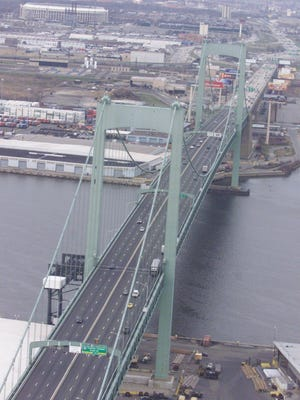 The Walt Whitman Bridge between Gloucester City and South Philadelphia is getting a new paint job.