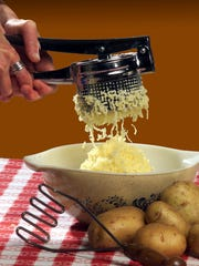 Too much mashing turns potatoes into paste. Use a ricer or a hand masher instead of a mixer.