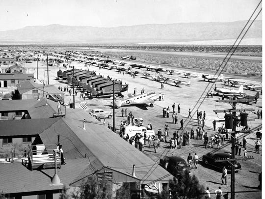 Fly-in at what is now the Palm Springs International Airport, 1946.
