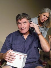 "Cecilia (Diana Back) is learning postman Bob Crowley's (Ray Kane) delivery has more to do with her than any packages in ""Men Are Dogs"" at Island Theater Company."