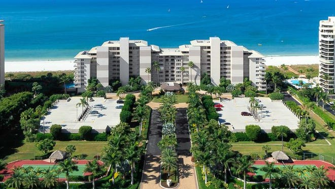 Somerset Condominiums is 10-story high-rise on the beach on Marco Island.