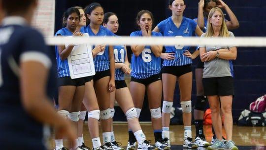 Hendrick Hudson swept Poughkeepsie in volleyball action