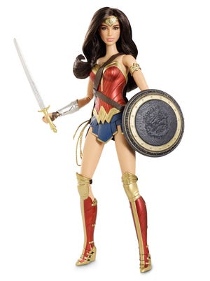 "A Barbie version of actress Gal Gadot's Wonder Woman is coming in the spring as part of a ""Batman v Superman"" movie line."