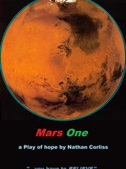 "The working cover for ""Mars One,"" a play Craig Hane"