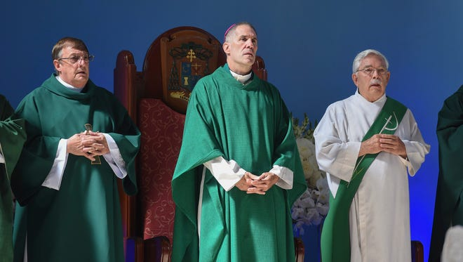 Archbishop Michael Jude Byrnes at the Dulce Nombre de Maria Cathedral-Basilica in Hagatña on Aug. 27, 2017.