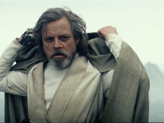 Luke Skywalker (Mark Hamill) revealed himself at the end of The Force Awakens. Episode VIII picks up that thread.