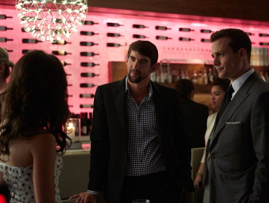 first look michael phelps on suits