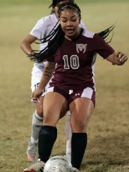 Cathedral City and Rancho Mirage soccer action on Wednesday,