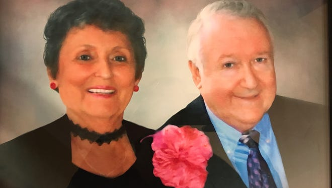 Claudia Higdon pictured with her husband of nearly 60 years, James Higdon.