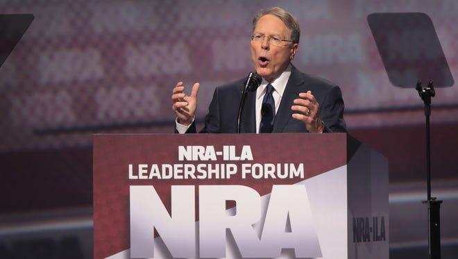 Wayne LaPierre, presidente de la Asociación Nacional del Rifle.