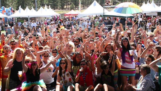 Nearly 4,000 people attended the 2014 Pride in the Pines in Flagstaff.