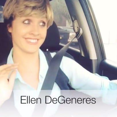 Lauren O'Brien impersonates Ellen DeGeneres stuck in