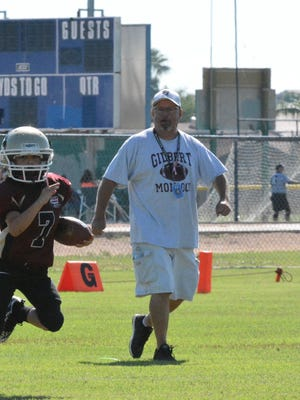 Mike Thompson, an East Valley Pop Warner fixture and an assistant football coach at Mesa Desert Ridge High School for eight seasons, has died.