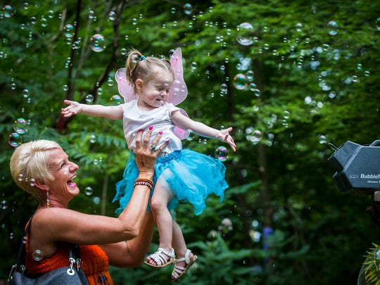 Families braved short rain showers for Faeries, Sprites