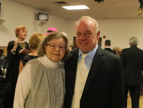 Debra Helm of Redding and Ted Yoder of Anderson attend
