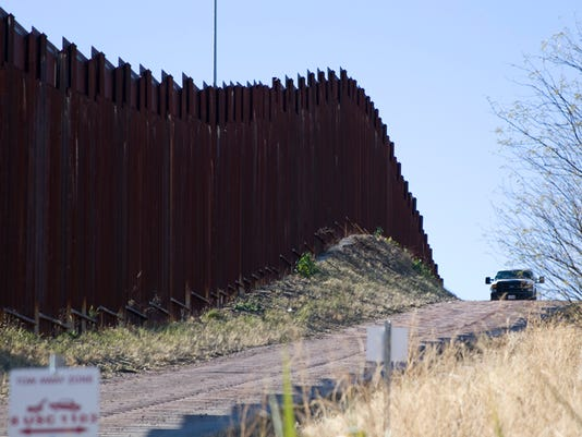 United States and Mexico wall