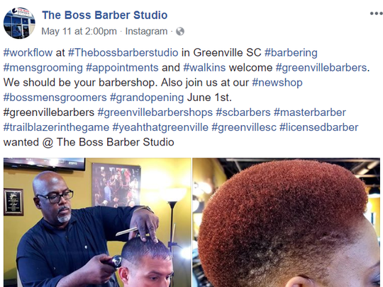 Greenville barber Al Reid, owner of Boss Barber Studio,