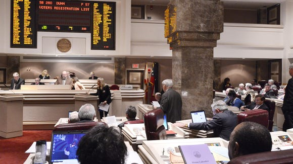 The Alabama House of Representatives on Tuesday, March 18, 2014, in Montgomery, Ala..