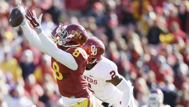 Iowa State receiver D'Vario Montgomery was dismissed from the football team for a violation of team rules, according to a news release