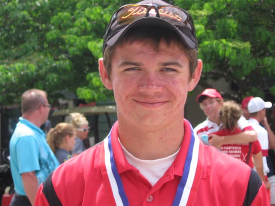 Junior Alex Moorman took his second state golf title Saturday. He also won as a freshman.