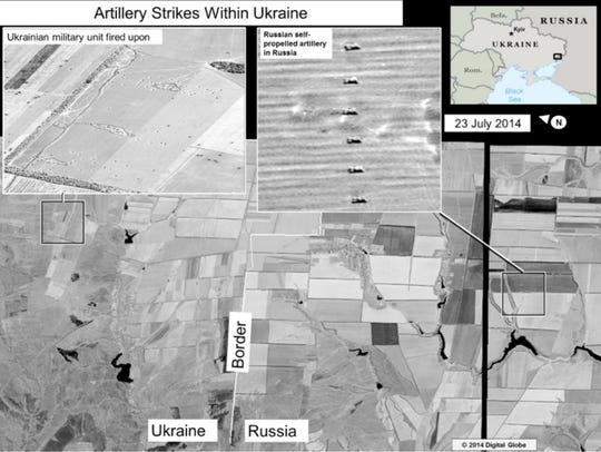 U.S. releases images showing Russia firing into Ukraine