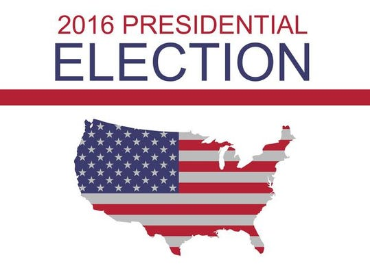 US Presidential Election 2016: Stars and Stripes US map, illustration