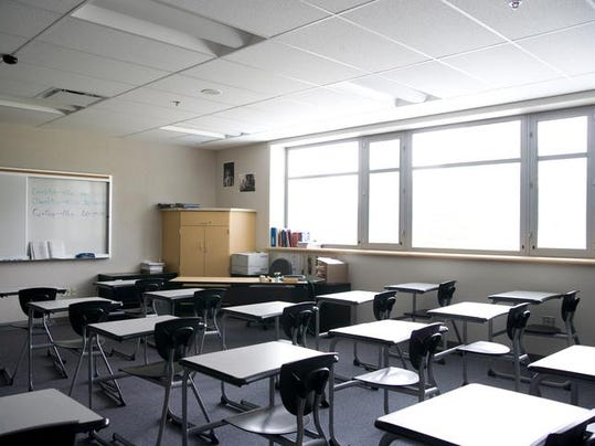 High school classroom