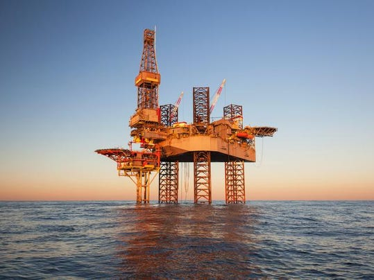 An offshore oil drilling rig