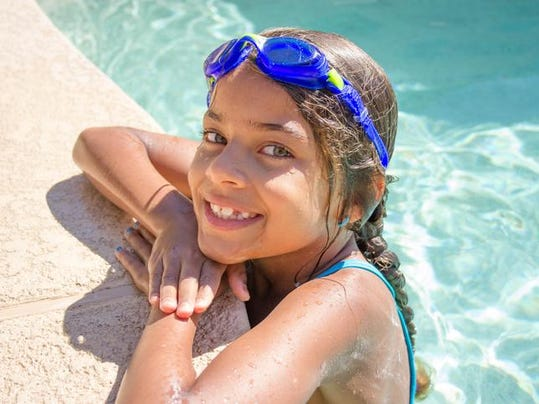 Girl at the Swimming Pool