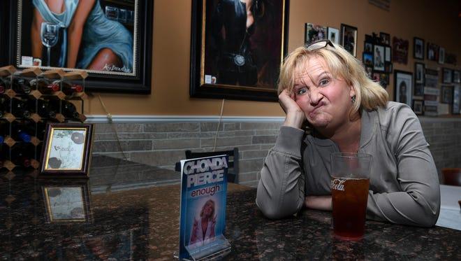 Comedian Chonda Pierce sits at her favorite restaurant  Vuocolo's Italian in Ashland City, Tenn., Tuesday, April 4, 2017.