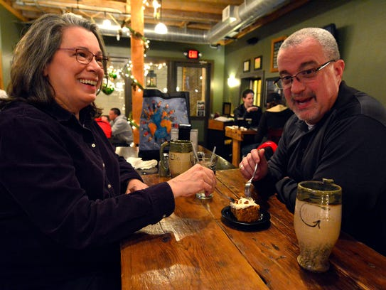 Elle and Patrick Fleming of Red Lion share a piece