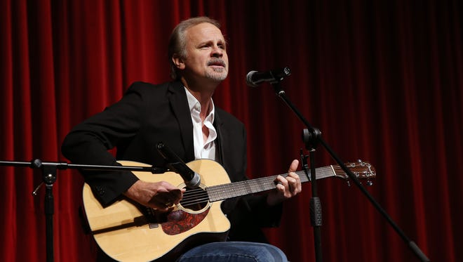 James Gedeon performs during the Morris Educational Foundation Media Day at Morristown High School for its 9th annual Morristown Talent Show renamed Morristown ONSTAGE. The event will take place on February 24, 2016 at the Mayo Performing Arts Center. January 9, 2016, Morristown, NJ.