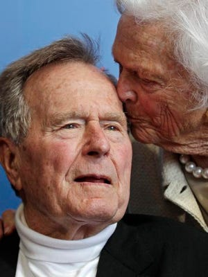 The former president and Mrs. Bush in 2012.