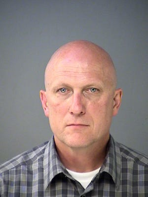 Mitchell Thompson's booking photo after being arrested in the evening of July 27 after being involved in a three-car accident. The arrest was on suspicion of driving while intoxicated.