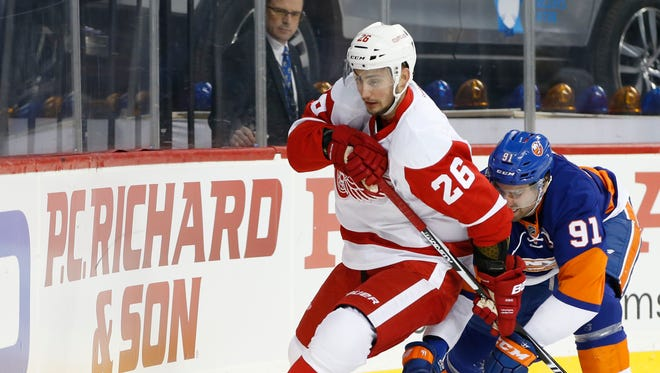 Forward Tomas Jurco: 0 points, minus-3 in 11 games. Salary cap hit is $900,000. Speaks to what the coaches think of him that even as Riley Sheahan has not scored at all, Jurco only has gotten into the lineup if there's no other choice. A restricted free agent next summer, so it behooves the Wings to decide whether he is part of their future. If he is not, they should move him for a pick, if possible. D