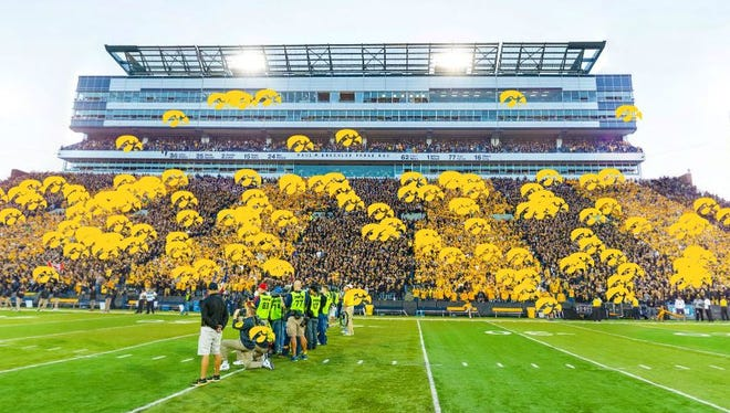 Hundreds of Hawkeyes fans have tagged themselves in this interactive photo from Saturday's game.