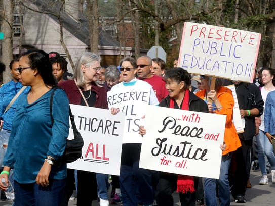 About 800 people participate in the annual Martin Luther
