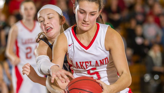 Sophomore Keira Marks and the Lakeland girls' basketball team were eliminated from state play with a loss to High Point in this past Saturday's North 1 Group 2 state sectional semifinal round