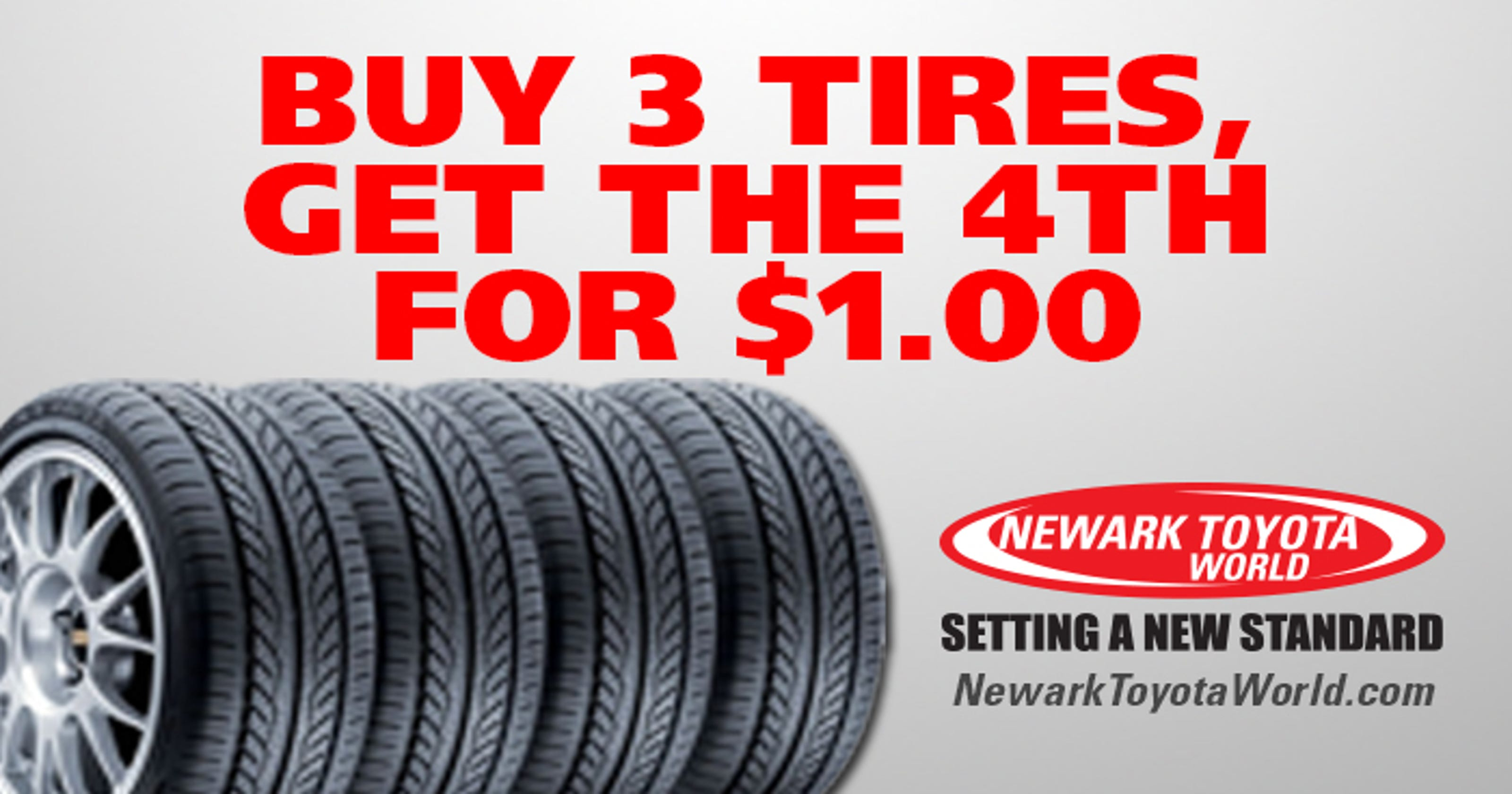 Buy 3 Tires Get The Fourth For 1