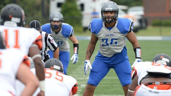 Faulkner linebacker Caleb Taylor and the No. 4-ranked