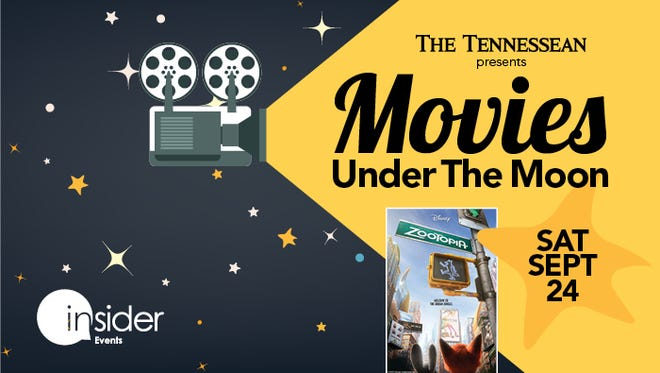 """Join The Tennessean on September 24th to enjoy """"Zootopia"""" under the moon at Sumner County Veterans Park."""