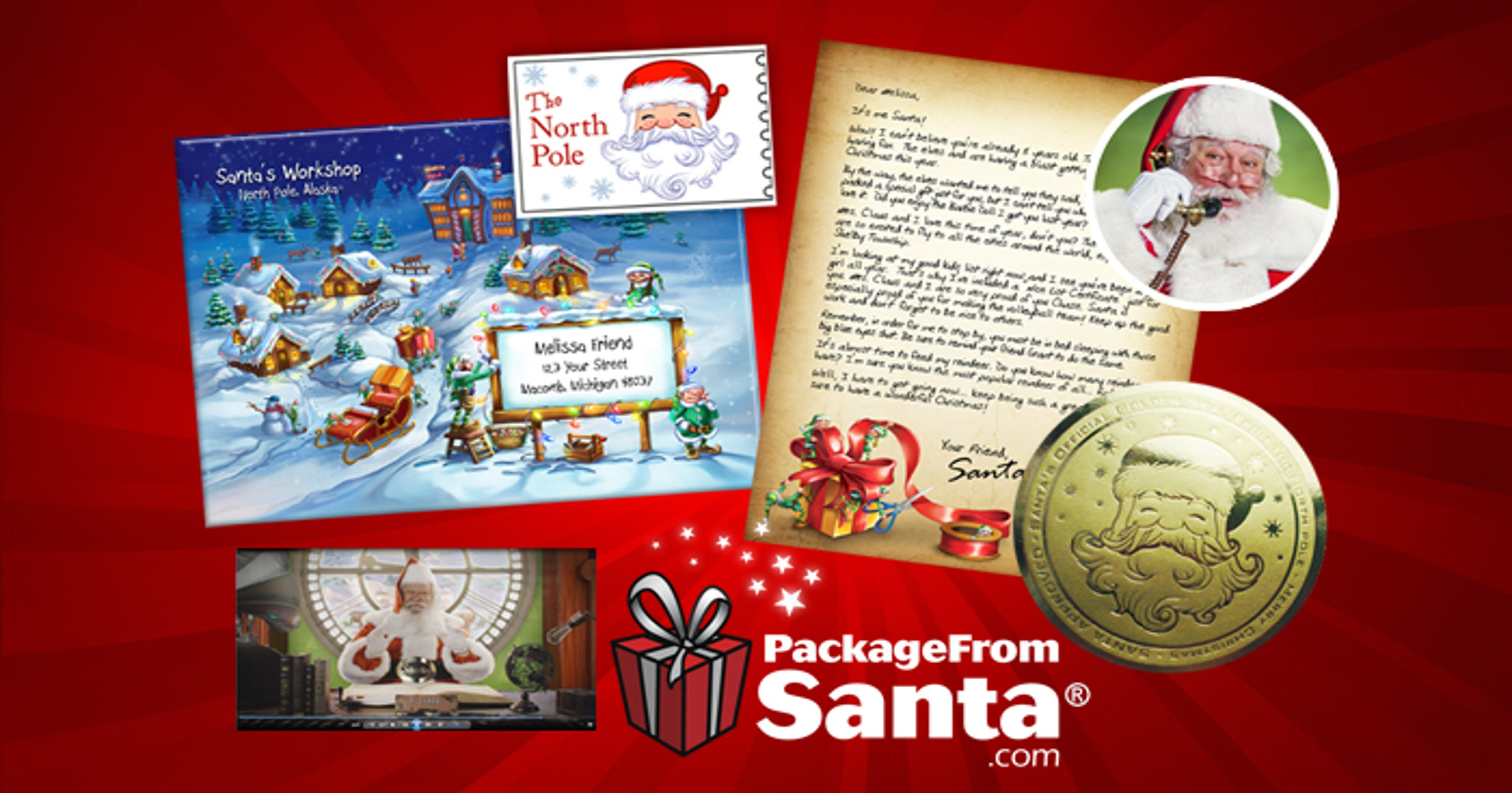 packages from santa letters send a package from santa 8388