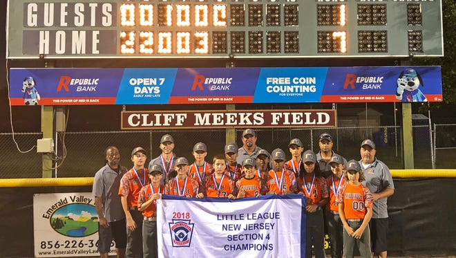 Millville American's 12-year-old Little League baseball team beat Monroe Twp. on Thursday night, 7-1, to claim the Section IV title in Glassboro.