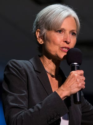 The Green Party's presidential nominee, Jill Stein, delivers remarks Sept. 21, 2016, at Wilkes University in Wilkes-Barre, Pa.
