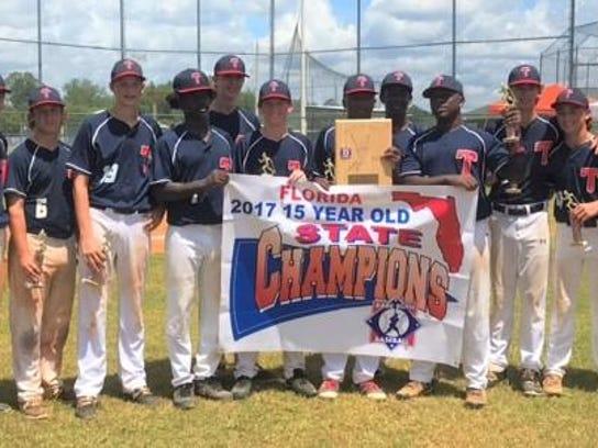 The Tallahassee-Leon Babe Ruth 15U team won a state