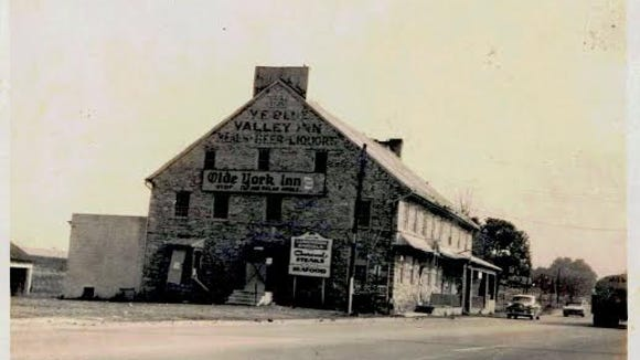 As the old Lincoln Highway - now Route 462 - was widened, it encroached on the York Valley Inn's front porch. In the 1960s, the old stone structure was dismantled and part of it rebuilt several miles away in Susquehanna Memorial Gardens.