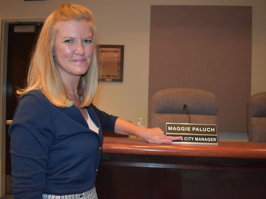 Alamogordo City Manager Maggie Paluch after she was hired as city manager in 2017. She tendered her resignation Friday, Feb. 15.